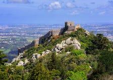 Het Moorse kasteel, Sintra, Portugal Royalty-vrije Stock Afbeelding