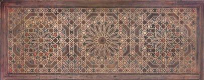 Het Moorse schilderen op hout Stock Fotografie