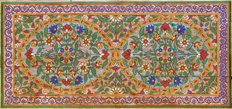 Het Moorse schilderen op hout Stock Afbeelding