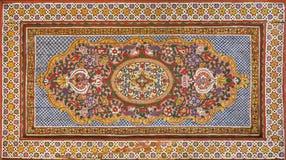 Het Moorse schilderen op hout Stock Foto's