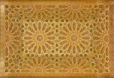 Het Moorse schilderen op hout Stock Foto