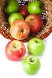 Het morsen van appelen Stock Afbeelding