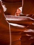 Het morsen van zand in de Canion van de Antilope Royalty-vrije Stock Fotografie