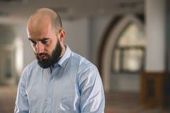 Het moslim Bidden stock foto's