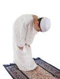 Het moslim jonge jongen bidden Royalty-vrije Stock Afbeelding