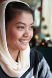 Het moslim vrouw glimlachen Royalty-vrije Stock Foto