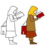 Het moslimboek van de meisjeslezing Royalty-vrije Stock Afbeelding