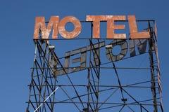 het motel roestte teken royalty-vrije stock foto