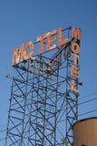 het motel roestte teken stock fotografie