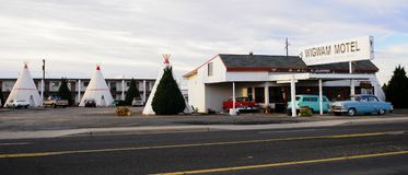 Het motel van de wigwam, holbrook, Arizona royalty-vrije stock foto