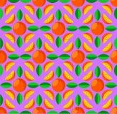 Het motief van het citrusvruchten zo patroon vector illustratie