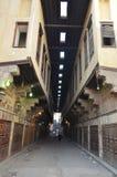 Het motief van de sultan barqoq deur in Egypte stock foto
