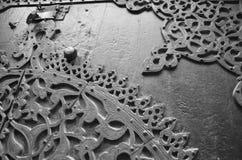 Het motief van de sultan barqoq deur in Egypte stock afbeeldingen