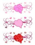 Het Motief van Themed van het hart Stock Foto's