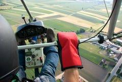 Het motor-zweefvliegtuig Stock Afbeeldingen