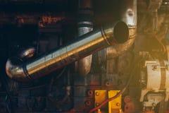 Het motormechanisme maaidorsers royalty-vrije stock foto's