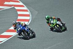 het motorrijden van 24 uur Catalonië-Spanje Royalty-vrije Stock Foto's