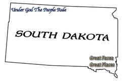 Het Motto en de Slogan Staat van de Zuid- van Dakota Royalty-vrije Stock Foto's