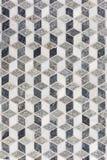 Het Mozaïek dat van de tegel 3D Geometrisch Patroon vormt Royalty-vrije Stock Foto