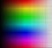 Het mozaïek, de tint en de helderheid van het kleurenspectrum, op zwarte achtergrond Vector royalty-vrije illustratie