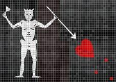 Het mozaïek geweven achtergrond van de Blackbeardpiraat stock illustratie