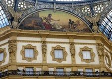 Het mozaïek van Afrika, Galleria Vittorio Emanuele II, Milaan, Italië stock foto's
