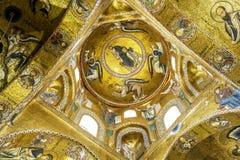 Het mozaïek van Christus in Palermo stock fotografie