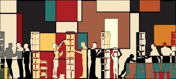 Het mozaïek van de bibliotheek stock illustratie