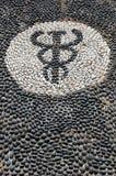 Het mozaïek van de kiezelsteen van het symbool van Hypocrates Royalty-vrije Stock Foto