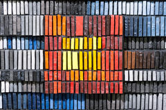 Het mozaïek van de kleur van glas Stock Foto