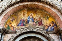 Het mozaïek van de oordeeldag bij St Tekens in Venetië Stock Fotografie