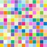 Het mozaïek van heldere kleurrijke vierkanten op een witte achtergrond stock foto