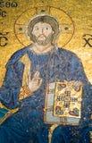 Het mozaïek van Jesus-Christus in Hagia Sophia Royalty-vrije Stock Afbeeldingen