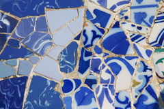 Het mozaïek van stukken van porselein stock foto