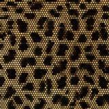 Het mozaïek vectorachtergrond van de luipaard Royalty-vrije Stock Foto