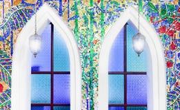 Het mozaïek verfraait op muur Royalty-vrije Stock Afbeelding