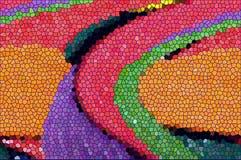 Het mozaïekachtergrond van de kleuren onregelmatige rechthoek Stock Foto