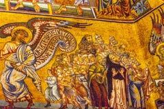 Het Mozaïekkoepel Bapistry Heilige John Florence Italy van de engelenbijbel royalty-vrije stock afbeeldingen