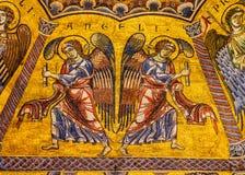 Het Mozaïekkoepel Bapistry Heilige John Florence Italy van de engelenbijbel royalty-vrije stock afbeelding