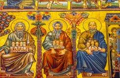 Het Mozaïekkoepel Bapistry Heilige John Florence Italy van de heiligenbijbel stock afbeelding