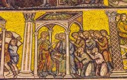 Het Mozaïekkoepel Bapistry Heilige John Florence Italy van heilige Worshipers stock foto
