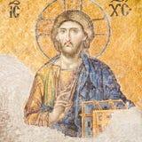 Het mozaïek van Jesus-Christus in Hagia Sophia Stock Fotografie