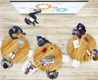 Het multi-etnische Concept van Studying Photo Illustration van de Groepsstudent Stock Fotografie