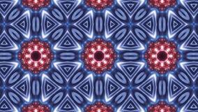 Het multipatroon van de kleurencaleidoscoop abstracte mandala met blauwe rood en het gloeien vector illustratie