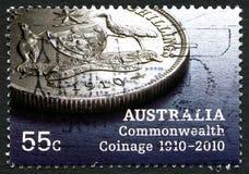 Het MuntenPostzegel van de Commonwealth van Australië Stock Foto