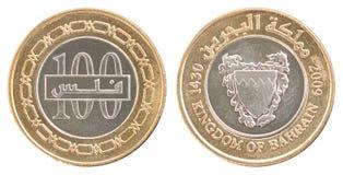 Het muntstuk Bahrein fils plaatste Royalty-vrije Stock Foto's
