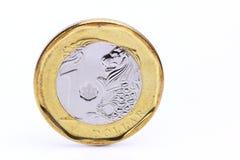 Het muntstuk van één dollarsingapore Stock Afbeeldingen