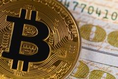 Het muntstuk van het Bitcoinsymbool Royalty-vrije Stock Fotografie