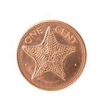 Het muntstuk van de Bahamas met zeester, Stock Afbeeldingen