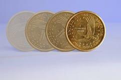Het Muntstuk van de dollar Stock Foto's